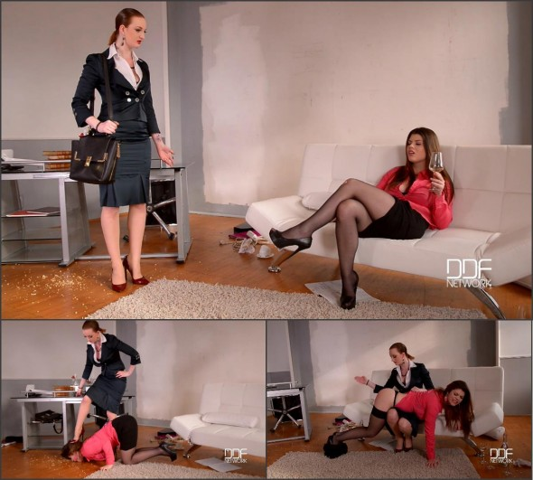 Lesbian Fetish Training In The Office-0-01-01-748