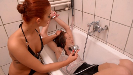 Aylin Diamond and Sophie Lynx - Humiliated In The Red Chamber Of Strap-On.